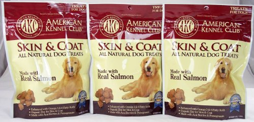 AKC Skin and Coat All Natural Dog Treat (Pack of 3)
