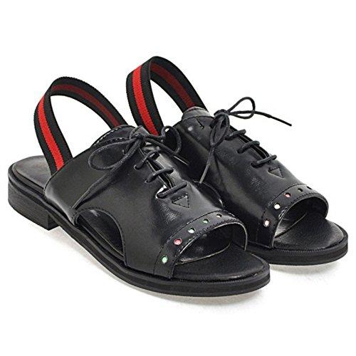 COOLCEPT Damen Open Toe Sandalen Schuhe Black