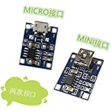 50PCS TP4056 1A lithium battery dedicated charging board charging module charger MICRO and mini interface