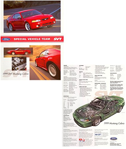 1999 FORD SVT MUSTANG COBRA Coupe & Convertible VINTAGE COLOR SALES BROCHURE - 12/98 - USA - AWESOME ORIGINAL !!