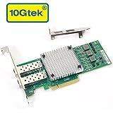 10Gtek Broadcom BCM57810S Chipset 10 Gigabit Ethernet Sever Adapter Card (NIC), Dual SFP+ Port PCIE