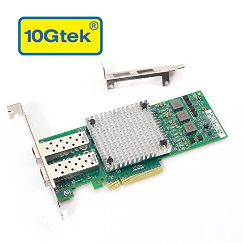 10Gtek Broadcom BCM57810S Chipset 10 Gigabit Ethernet Sever Adapter Card (NIC), Dual SFP+ Port PCIE