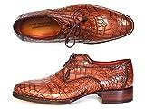 Paul Parkman Genuine Crocodile Goodyear Welted Derby Shoes (ID#44Z87) Size 9.5-10 D(M) US Tan