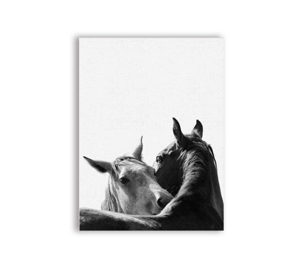 50X70Cmx3 Pezzi Senza Cornice zhaoyangeng Decorazioni su Tela E Poster Animali in Bianco E Nero Stampa su Tela Modern House Wall Art Decoration