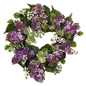 "AWM Real Looking 20"" Hanel Lilac Wreath - Silk Wreath 31"