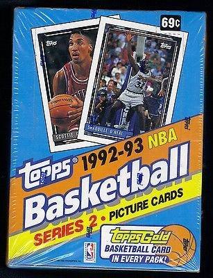 1992/93 Topps Series 2 NBA Basketball HOBBY box (36 (Topps Basketball Series)