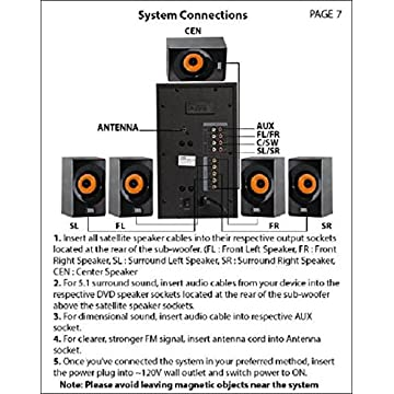 Image of Surround Sound Systems Acoustic Audio AA5170 Home Theater 5.1 Bluetooth Speaker System 700W with Powered Sub