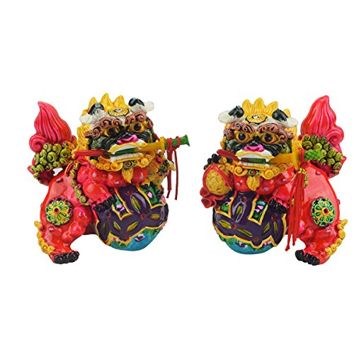 Feng Shui Chinese Foo Dogs to Ward Off Evil Energy AA303 - Chinese Statues Lion