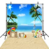 6x8FT Sea Beach Backdrop Photography Children Backgrounds Photo Backdrops Holiday Vinyl Photography Backgrounds Computer Printed Photo Backgrounds S2280