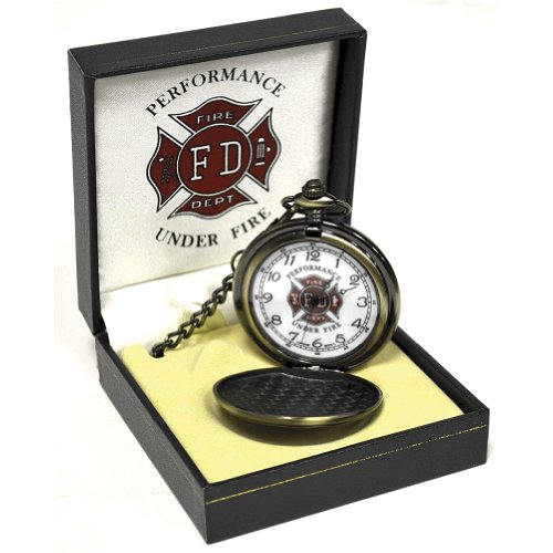 SGPX077 Fire Fighter Pocket Watch