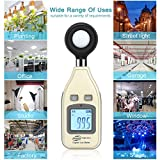 Light Meter Digital Illuminance Meter Measure Light 0~200,000 Lux (0~18500 FC) Handheld Foot Candle Meter Luxmeter MAX/MIN/Data Hold Backlight LCD Display lumens Meter for Plant led Light Auto shutoff