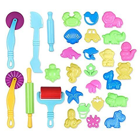 Sonlike Smart Dough Tools Kit with Models and Molds (Set of 29 Pieces)
