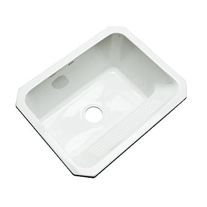 dekor sinks 31000um richfield cast acrylic single bowl undermount utility sink 25 inch - Kitchen And Utility Sinks