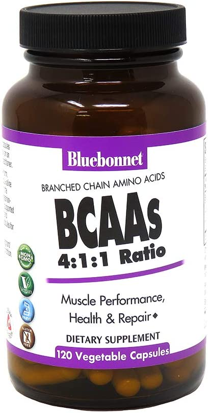 Bluebonnet BCAAS Vitamin Capsules, 120 Count