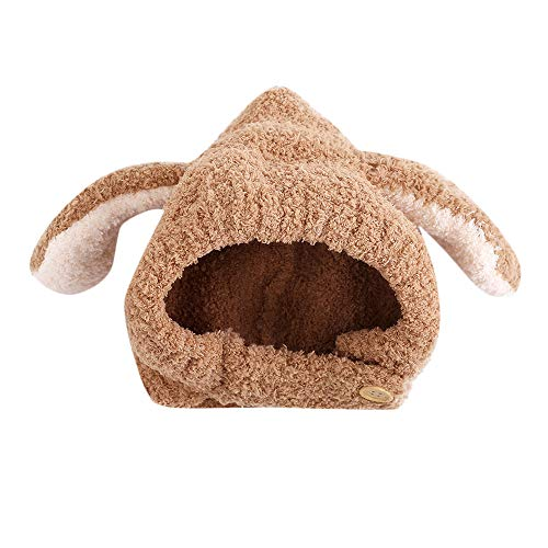 Tronet Kids Winter Warm Hat,Newborn Baby Boys Girls Thicken Stitching Rabbit Ears Guard Cap ()