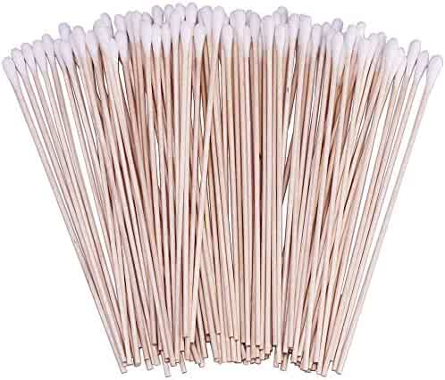 200 Count 6 Inch Cotton Swabs with Wooden Handles Cotton Tipped Applicator