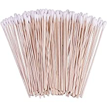 """200 Count 6"""" Cotton Swabs with Wooden Handles Cotton Tipped Applicator (2 Pack)"""