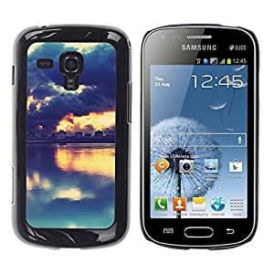 Samsung Galaxy S Duos / S7562, Radio-Star - Cáscara Funda Case Caso De Plástico (Picturesque Sunset Lake)