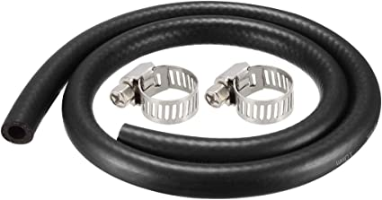 1.8M//6Ft Rubber Diesel Petrol Hose Engine Pipe Tubing uxcell Fuel Line Hose 10mm I.D