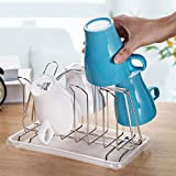 MAOMAOXIAO Mug Holder Drain cup frame Water cup hanger Kitchen storage racks Cup storage rack Stainless steel-A