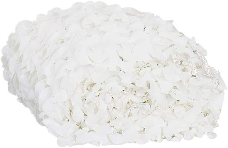 HYFAN Redes de Camuflaje Red Camuflaje Blanco para Acampar ciegas sombrilla Caza Tiro (2 x 3/4 / 5/6 / 7/8 / 9/10 / 11 M)