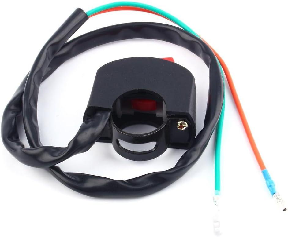 KIMISS Commutateur de guidon de moto montage universel du guidon de moto ON//OFF interrupteur dextinction de la lumi/ère de la lampe de brouillard AP