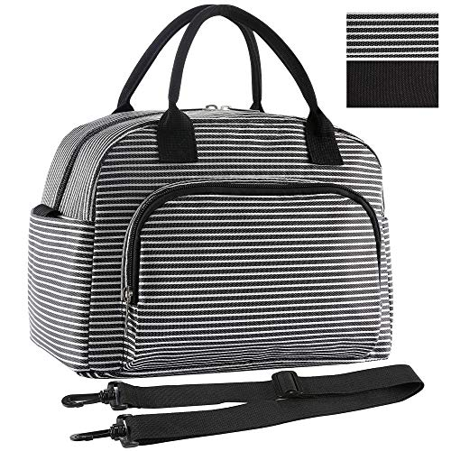 (ORASANT Lunch Bag, Large& Durable Insulated Water-resistant Cooler& Thermal Lunch Bag for Women and Men, Fashionable Lunch Tote with Detachable Shoulder Strap for Work, School, Beach, Picnic,)