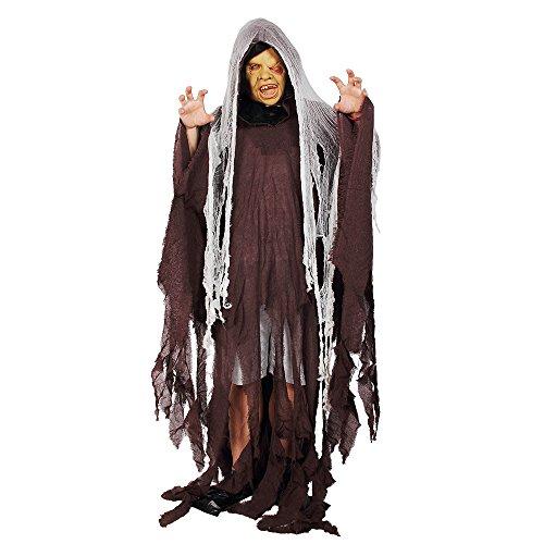 Halloween Costume Men's Soul Taker Scary Ghost Demon Skeleton Grim Reaper Scary Fancy Dress - Grim Reaper Makeup