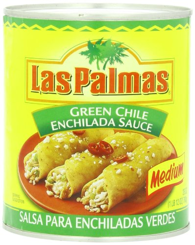 (Las Palmas Enchilada Sauce, Medium Green Chile, 28 Ounce (Pack of 12) )