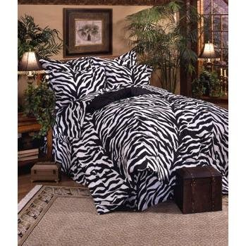 Kimlor Mills Karin Maki Zebra Complete Bed Set, California King, Black ()