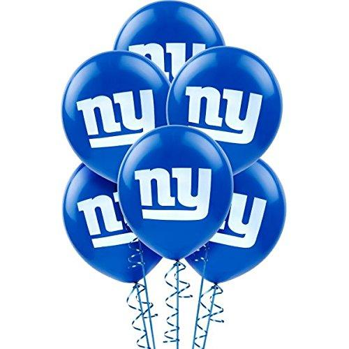 Amscan NFL Football Sports New York Giants Printed Balloons