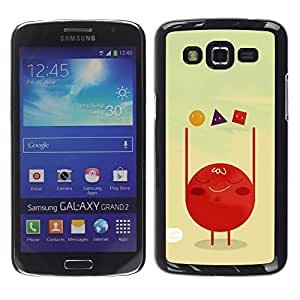 LECELL--Funda protectora / Cubierta / Piel For Samsung Galaxy Grand 2 SM-G7102 SM-G7105 -- Polygon Art Red Blood Cell Shapes --