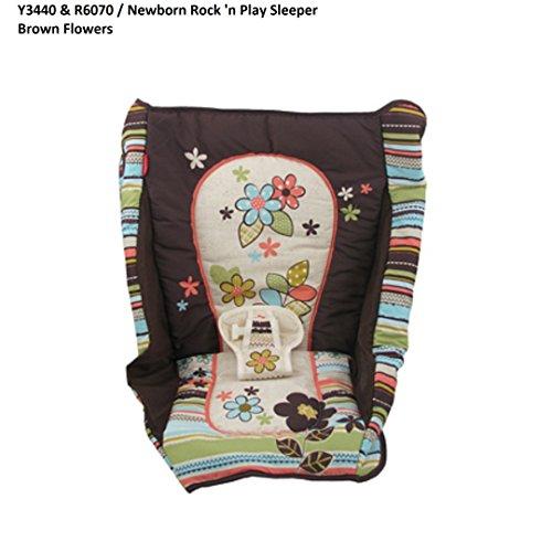 Fisher Price Rock N' Play Sleeper Replacement Pad (Y3440 Brown Flowers)