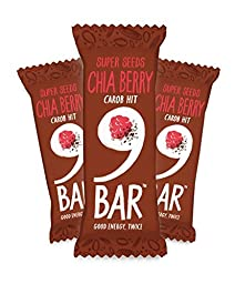 Gluten Free 9 Bar Energy Bars Variety Pack of 3 Flavors- Chia Berry, Peanut & Raisin, Almond & Raspberry by Whole Bake -Made in UK ( 13 Bars)