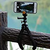 Kingfansion Octopus Mini Portable and Adjustable Flexible Tripod Stand Holder Mount for GoPro, Camera, iPhone & Android Phone (black)
