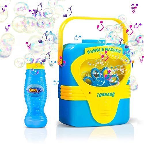 Bubble Machine, Automatic Bubble Maker Portable Soap Bubble Blower for Kids with Bubbles Solution Refill