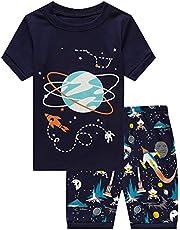 a787f8aea Family Feeling Shark Little Boys Shorts Set Pajamas 100% Cotton Clothes  Toddler Kid