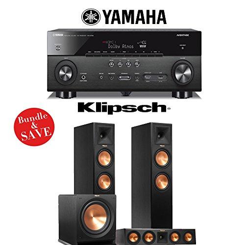 Yamaha AVENTAGE RX-A760BL 7.2-Channel Network A/V Receiver + Klipsch RP-260F + Klipsch RP-440C + Klipsch R-112SW - 3.1 Reference Premiere Package