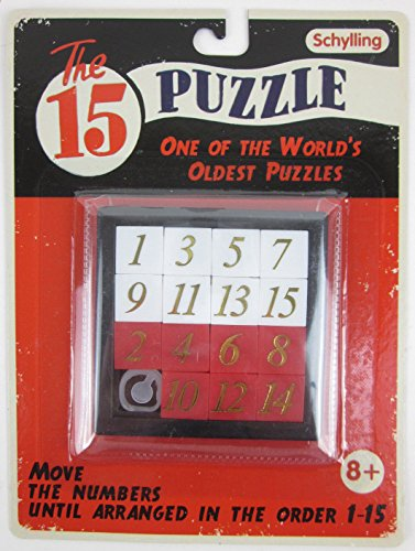 FIFTEEN SLIDING NUMBER 15 PUZZLE Classic Brain Teaser~Big Game Toys