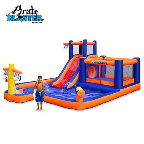Blast Zone Pirate Blaster Inflatable Water Park - Bounce Houses Water Slides