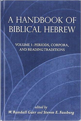 Amazon a handbook of biblical hebrew 9781575063713 w a handbook of biblical hebrew 1st edition reheart Gallery