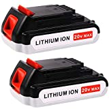 3000mAh Replacement Battery for Black and Decker 20V Lithium LBXR20 LBXR20-OPE LB20 LBX20 LB2X4020-OPE LST220 Cordless Power Tool 2 Pack