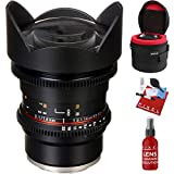 Rokinon 14mm T3.1 Cine DS Lens for Sony E-Mount with Heavy Duty Lens Case