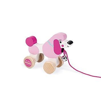 Janod Perrito para Pasear Color Rosa y Blanco Juratoys SAS J08217: Amazon.es: Juguetes y juegos
