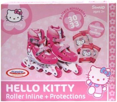 Hello Kitty 34–37 cm, Rollen Inline und Pads