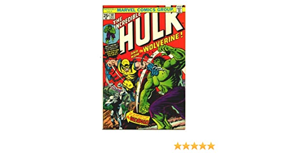 Semic Distribution – mss019p – Ameublement y Decoración – Marvel Steel Covers – Serie 2 – Giant Size – Incredible Hulk 181