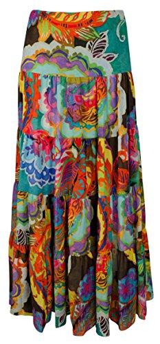 Lauren by Ralph Lauren Women's Plus Size Floral-Print Maxi Skirt-M-1X