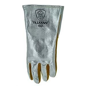 "Tillman 822 14"" Aluminized Carbon Kevlar Welding Gloves, Left Hand Only, Large"