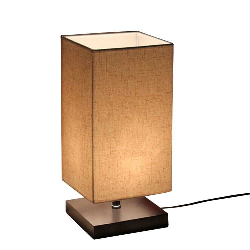 Surpars House Minimalist Solid Wood Table Lamp Bedside Desk Lamp by Surpars House (Image #1)