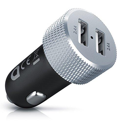 Aplic - Auto Ladegerät 24W/4,8A | 2-Port USB KFZ Adapter / Schnellladeadapter 12/24V | Schutzelektronik / Überlastschutz | für Apple iPhone / iPad, Samsung Galaxy, Nokia, Huawei, Blackberry, Sony, HTC, LG, Motorola uvm.